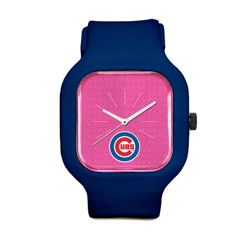 Pink Chicago Cubs Sport Watch