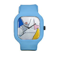 Asymmetrical Bust Sport Watch