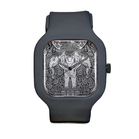 Three headed Elephant Sport Watch
