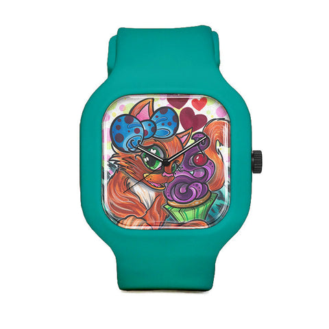 Cupcake Kitty Sport Watch