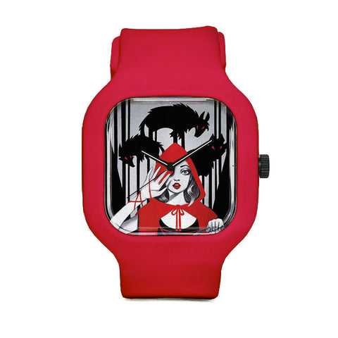 Red Sport Watch