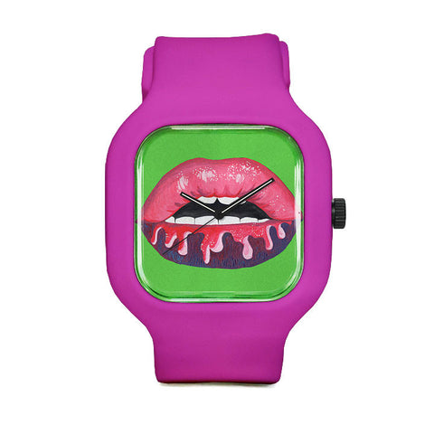Brilliant Lips Sport Watch