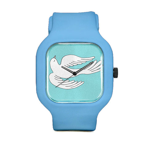 Sky Blue Swooping Bird Sport Watch