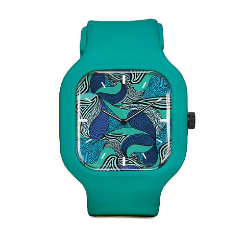 Abstract Blues Sport Watch