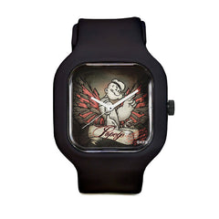 Popeye Black Sport Watch