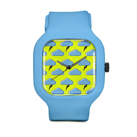 Cloud Pattern Sport Watch