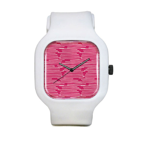 Grassy Pink Sport Watch
