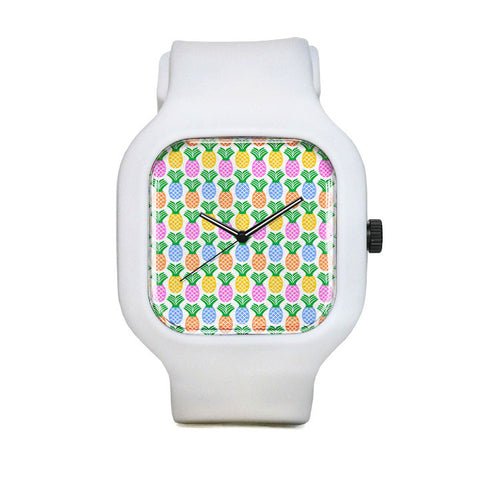Retro Pineapple Pattern Sport Watch