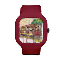 Graffiti Cable Car Sport Watch