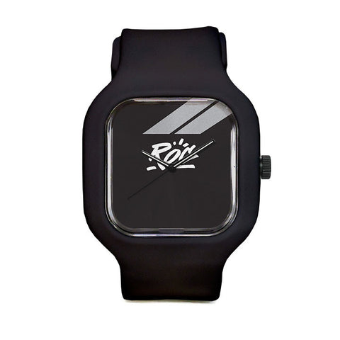 Black Logo Sport Watch