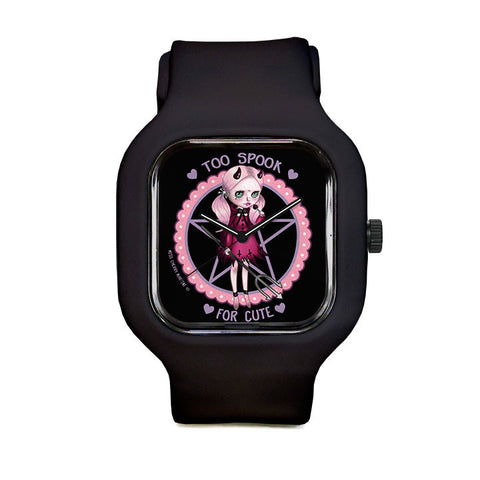 Too Spook for Cute by Miss Cherry Martini Sport Watch