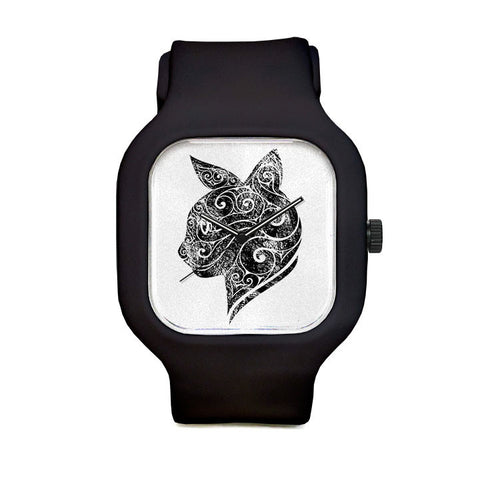 Swirly Cat Sport Watch