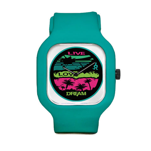 Live Love Dream Threadless Sport Watch