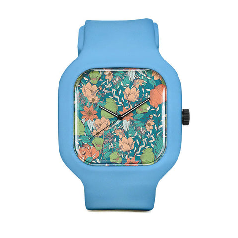 Botanical Pattern 12 Sport Watch