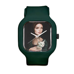 Lady with Devon Rex Sport Watch