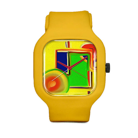 Chris's Closet Rainbow Square Sport Watch