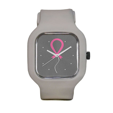 Pink Ribbon Balloon Sport Watch