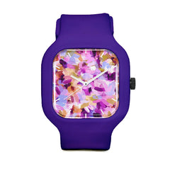 Lila Abstract Brushstrokes Sport Watch