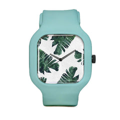 Banana Leaf Watercolor Sport Watch