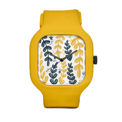 Yellow Leaves Sport Watch