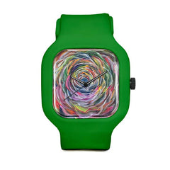 Rainbow Flower Sport Watch