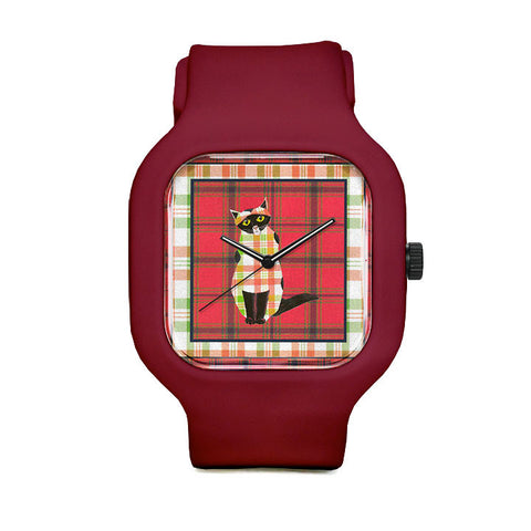 Plaid Cat Sport Watch