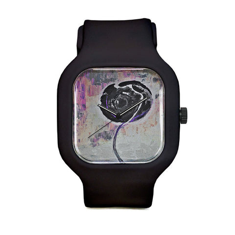 Golden Rose Acrylic Shadow World Sport Watch