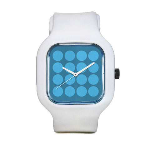 Aqua Polka Dot Sport Watch