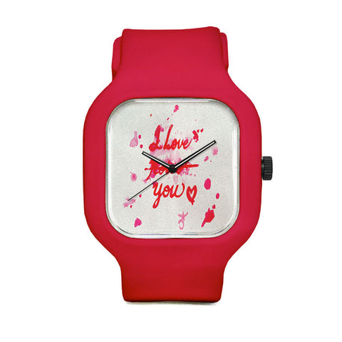 I Love Roses Sport Watch
