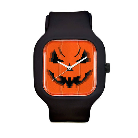 Pumpkin Face Sport Watch