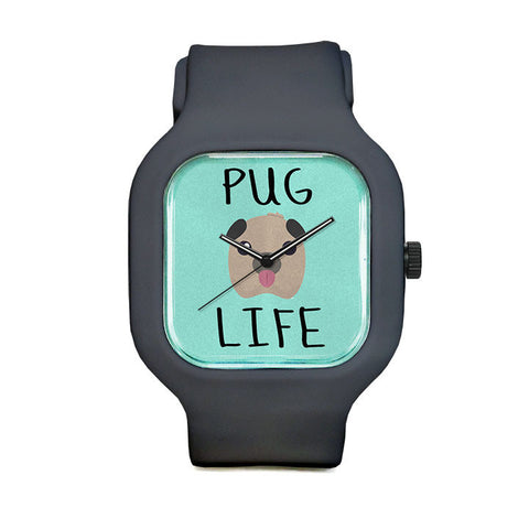 Fred Delicious Pug Life Sport Watch