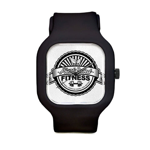 Plant Based Fitness Black and White Sport Watch