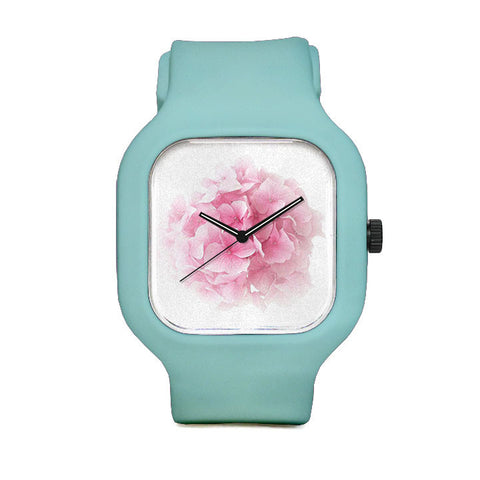 PinkHydrangea Flower Sport Watch