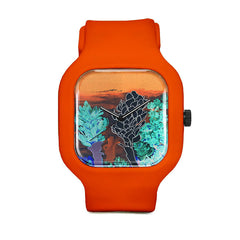 Alpinia Purpurata Red Ginger Flower Desert Night Sport Watch