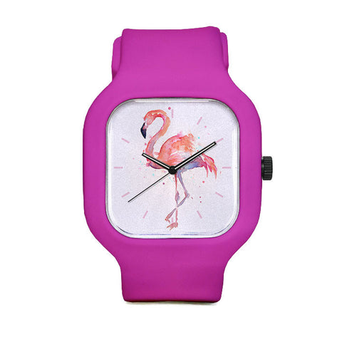 Pink Flamingo Sport Watch