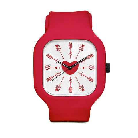Point In Time Red Sport Watch