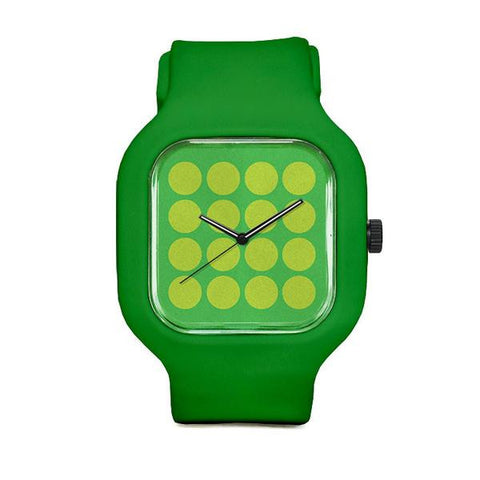 Lime Polka with Green Strap