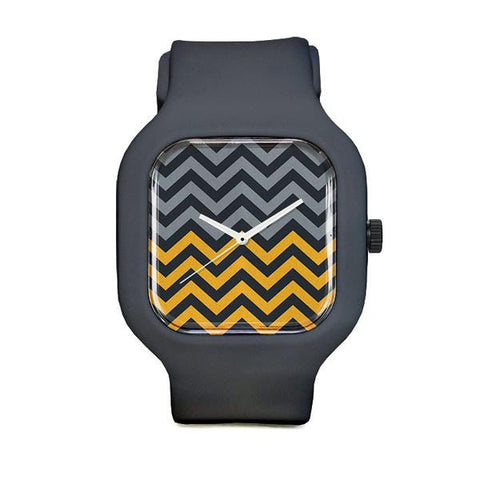 Split Chevron with Slate Strap