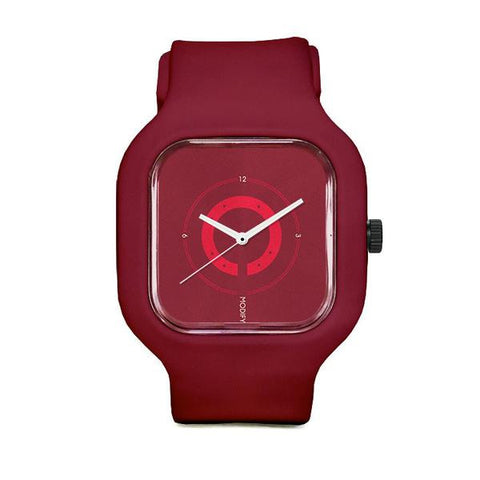 Crimson Circles Watch with Crimson Strap