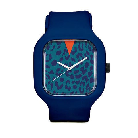 Blue Leopard with Navy Strap