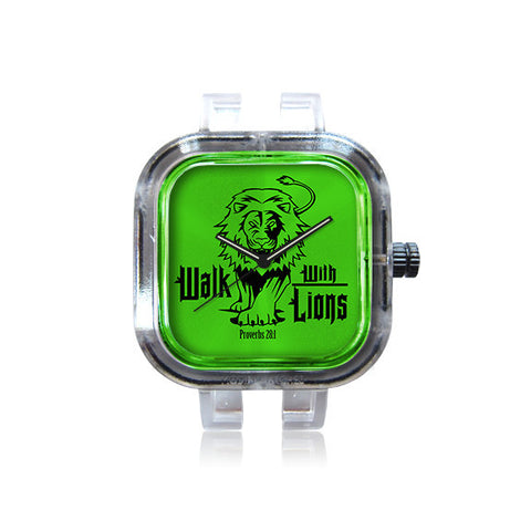 WalkWithLions GreenLogo watch