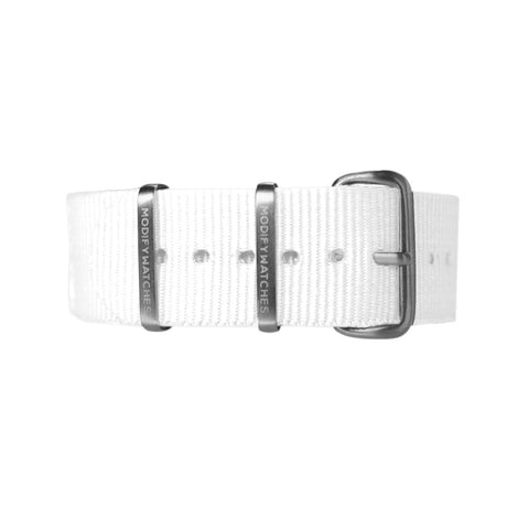 White Nylon Watch Strap