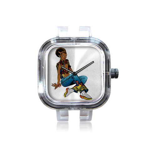 AlphaCMT Afro Puff Watch