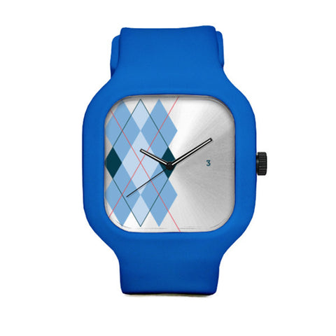 Blue Argyle Watch with Blue Strap
