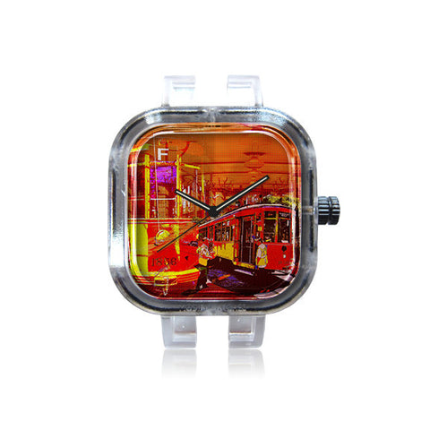 AswadART Orange SF F Train Watch