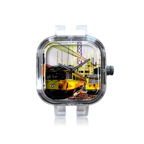 AswadART Yellow SF F Train Watch