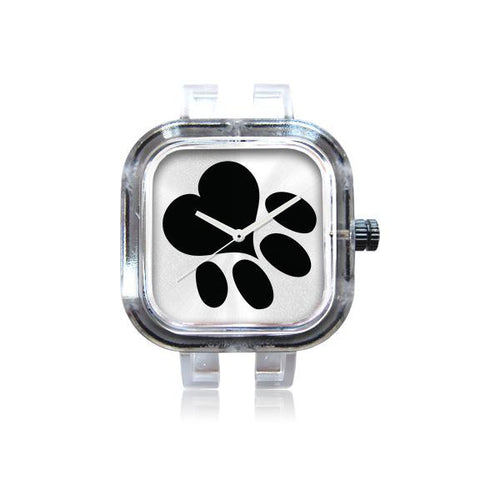 Paw Print White Watch