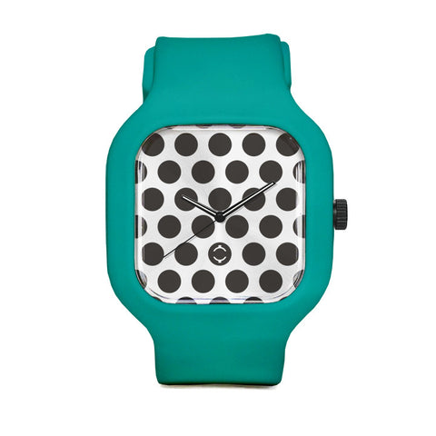 Polka Dot Watch with Turquoise Strap
