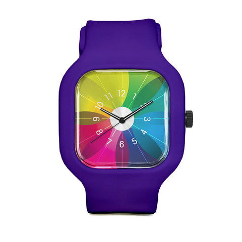 Spectrum Watch with Purple Strap