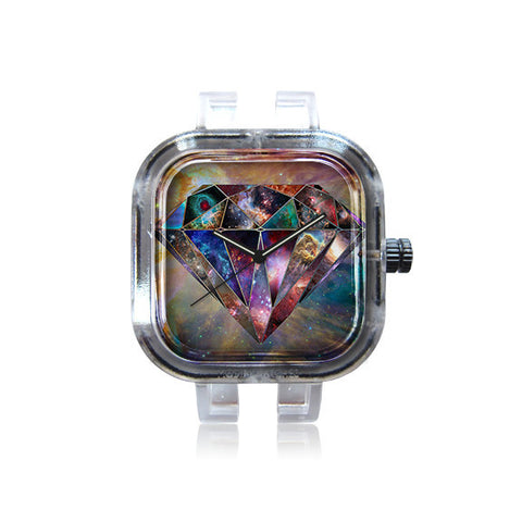 Dizzy Sq Diamond Galaxy Watch